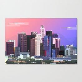 Los Angeles in Purple Canvas Print