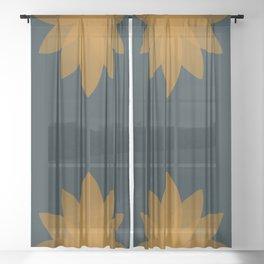 Minimal Lotus Flower XI Sheer Curtain
