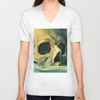 oil V-neck T-shirts featuring Civilizations Oil Painting by Thubakabra