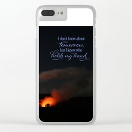 Don't know what lies ahead Clear iPhone Case