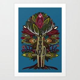 woodland prince blue Art Print