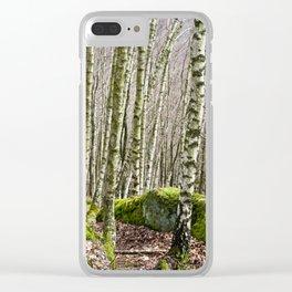Birches Clear iPhone Case