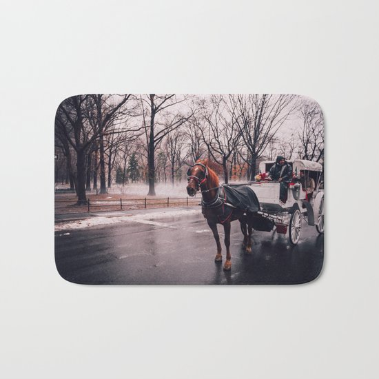 NYC Horse and Carriage Bath Mat