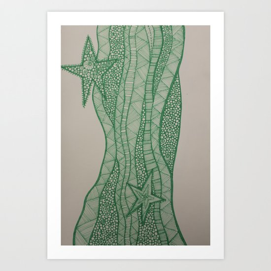 Star of wonder, star of night Art Print