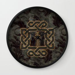 Decorative celtic knot, vintage design Wall Clock