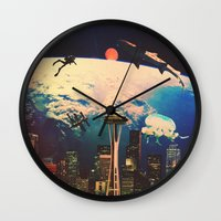 future Wall Clocks featuring Future. by Polishpattern