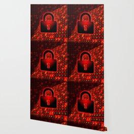 Secure data concept. Wallpaper
