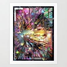 Modern Art Pattern by Nico Bielow Art Print