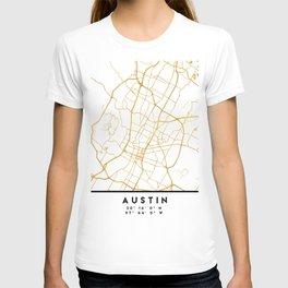 AUSTIN TEXAS CITY STREET MAP ART T-shirt