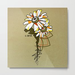 Tournesol - geometrci flower Metal Print