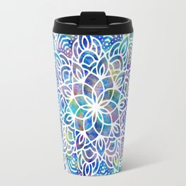 Mandala Little Mermaid Ocean Blue Travel Mug