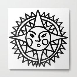 Smiling Sun Metal Print