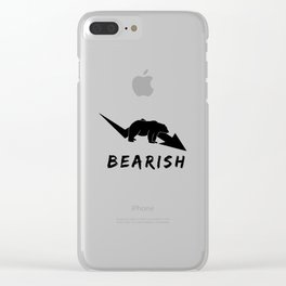 Stocks t shirt a funny stocks bear money present Clear iPhone Case