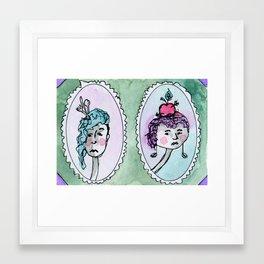 Jane and Harriett Framed Art Print