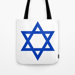 Blue Hexagram Tote Bag