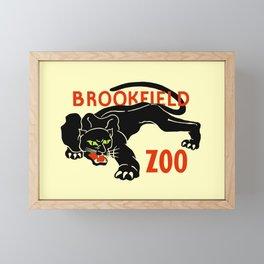 Black panther Brookfield Zoo ad Framed Mini Art Print