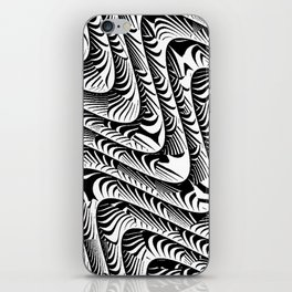 Black and White Serpentine Pattern iPhone Skin
