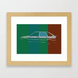Devyatka pop Framed Art Print