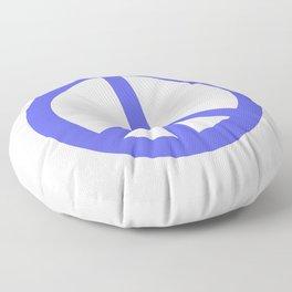 Peace (Azure & White) Floor Pillow