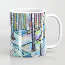 Early Spring in Birch Grove Coffee Mug
