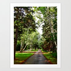 Refreshing Red Clay Road Art Print