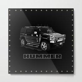 Hummer H2 Shirt #3 Metal Print
