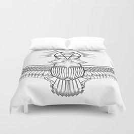 Ancient Egyptian Penta-Scarab Duvet Cover