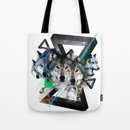 Cosmic Wolves Tote Bag