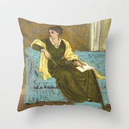 "Walter Crane ""Woman Seated on a Sofa"" Throw Pillow"