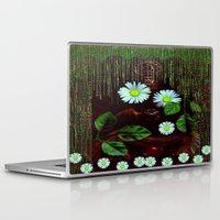 decorative Laptop & iPad Skins featuring Gargoyle decorative by Pepita Selles