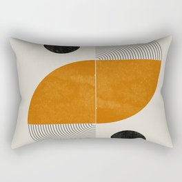 Abstract Geometric Shapes Rectangular Pillow