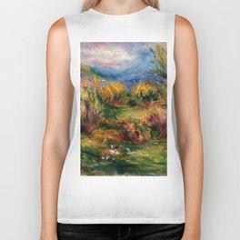 """Auguste Renoir """"Landscape near Cagnes-sur-Mer"""" Biker Tank"""