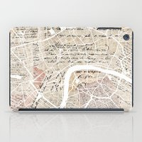 london map iPad Cases featuring London map by Mapsland