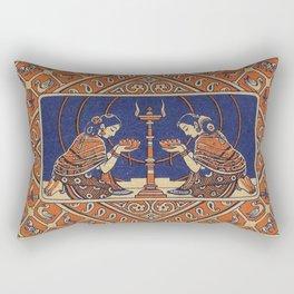Hindu Prayer Rectangular Pillow