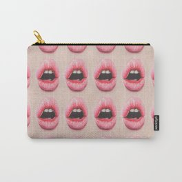 pink glossy lips grid #4 Carry-All Pouch