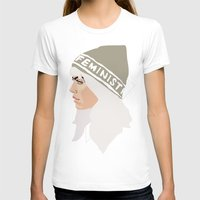 feminist T-shirts featuring Feminist (Silver) by Anna McKay