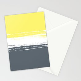 Color Blocks Pairing - Yellow & Petroleum Blue Stationery Cards