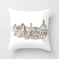 rome Throw Pillows featuring Rome by Ursula Rodgers