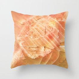 Sandy brown vague watercolor Throw Pillow