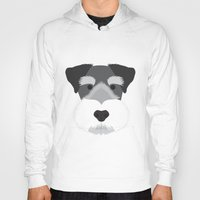 schnauzer Hoodies featuring Miniature Schnauzer  by Three Black Dots