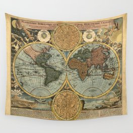 Old World Map Wall Tapestry