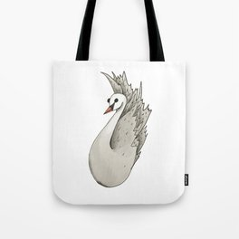 Almost Very Nearly Black Swan  Tote Bag