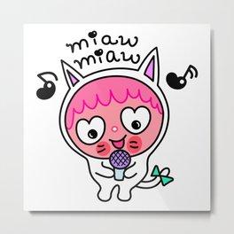 Pinky & choco : MIAW MIAW Metal Print