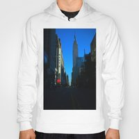 gotham Hoodies featuring Gotham City by The Electric Blue / YenHsiang Liang