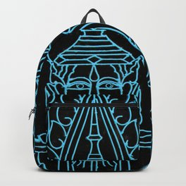 Royal Cambodian Gates: Black and Turquoise Backpack