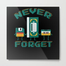Never Forget Diskette Video Cassette Metal Print