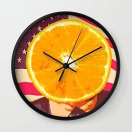 Orange for President Wall Clock