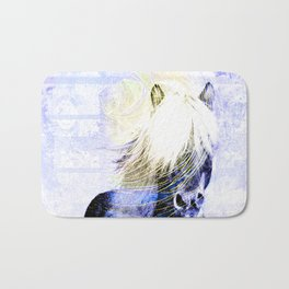 447 Abstract Periwinkle Horse Bath Mat