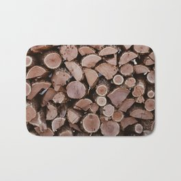 stacked wood Bath Mat