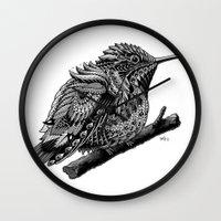 hummingbird Wall Clocks featuring Hummingbird by BIOWORKZ